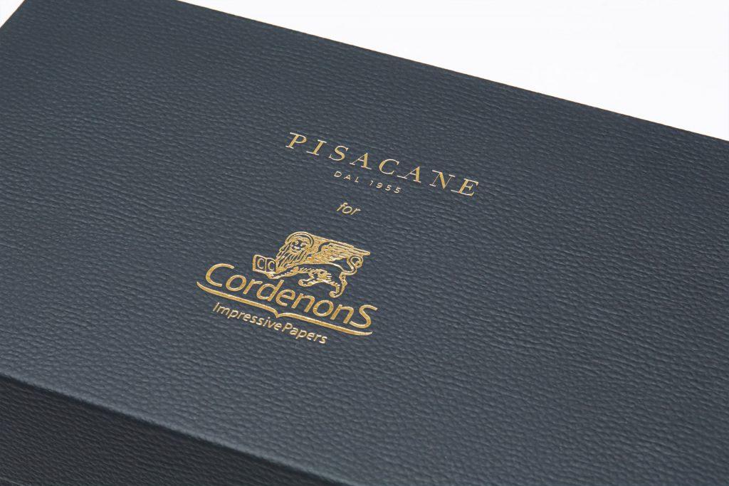 dettaglio della scatola per scarpe Cordenons
