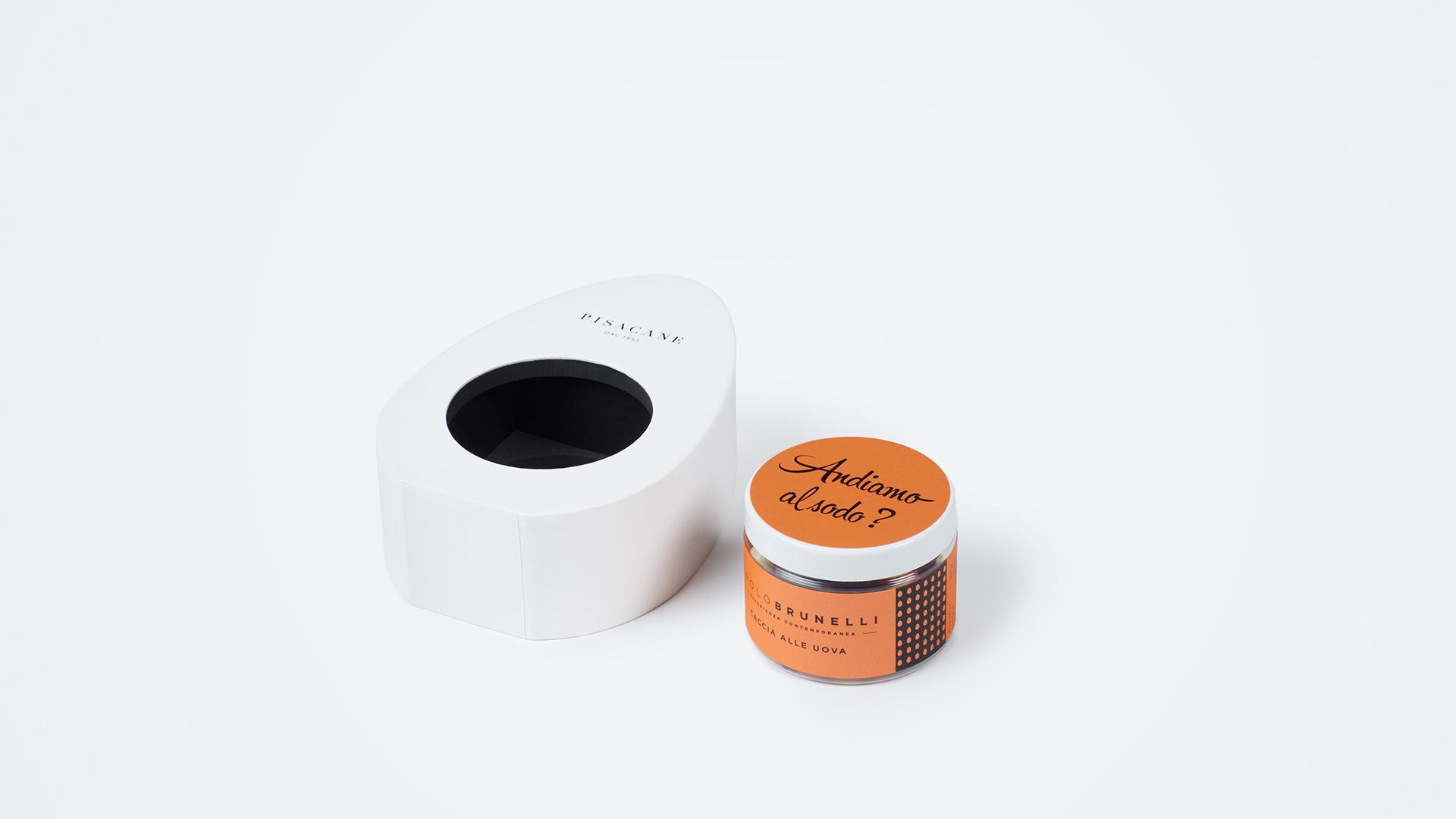 scatola a forma di uovo per pasticceria