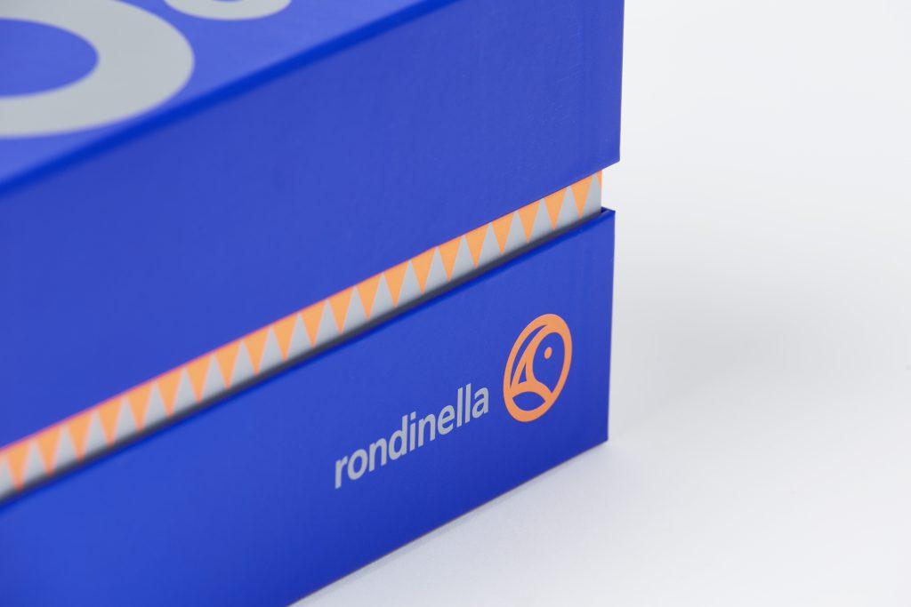 dettaglio della scatola personalizzata per Rondinella