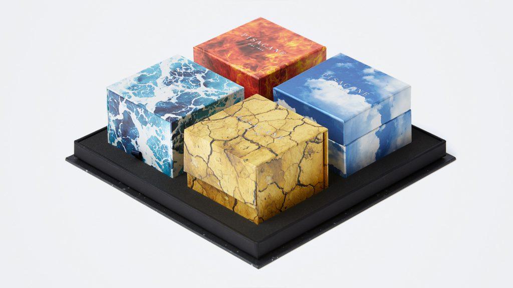 quattro scatole per soluzioni diverse di confezionamento personalizzato per Prada
